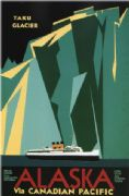 Vintage Travel Poster Shipping to Alaska Via Canadian Pacific